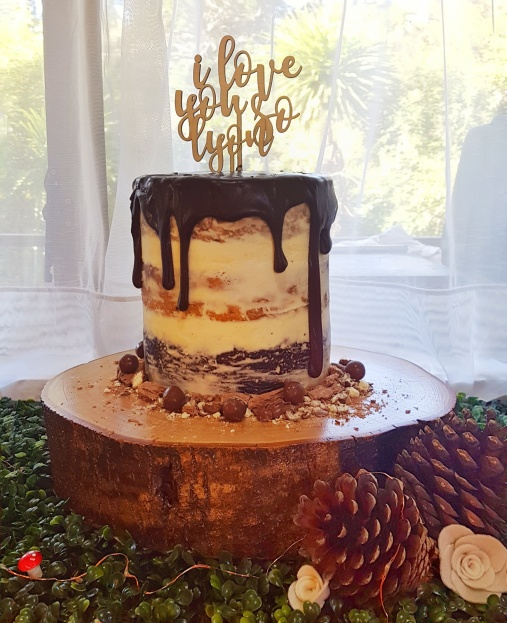 Homemade semi-naked cake