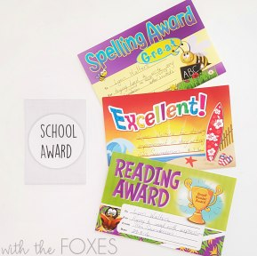 "School awards started piling in after we started our ""fun"" home learning"