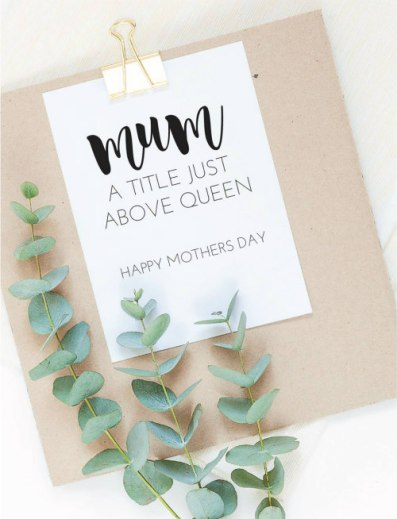 paper cuts mothers day card