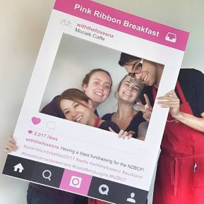 pink ribbon breakfast with the foxes mozaik team