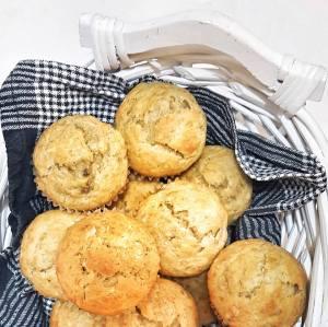spiced banana muffins