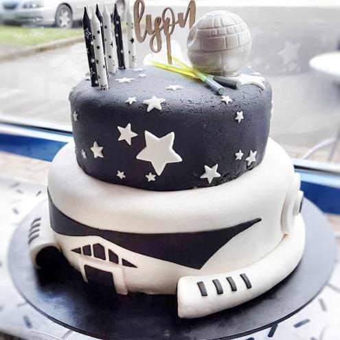 star wars cake chocolate deathstar